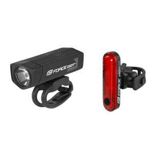 Force Σετ Φανάρια Dot Εμπρόσθιο & Οπίσθιο Με Φόρτιση Usb - Φώτα Ποδηλασίας