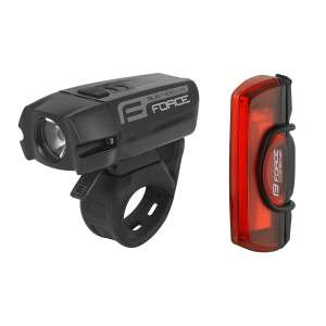 Force Σετ Φανάρια Glare Εμπρόσθιο & Οπίσθιο Με Φόρτιση Usb - Φώτα Ποδηλασίας
